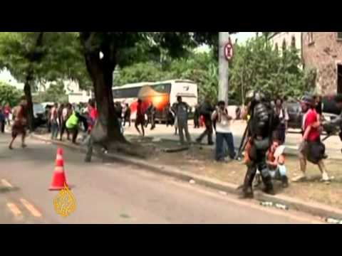 Brazil police clash with indigenous protesters