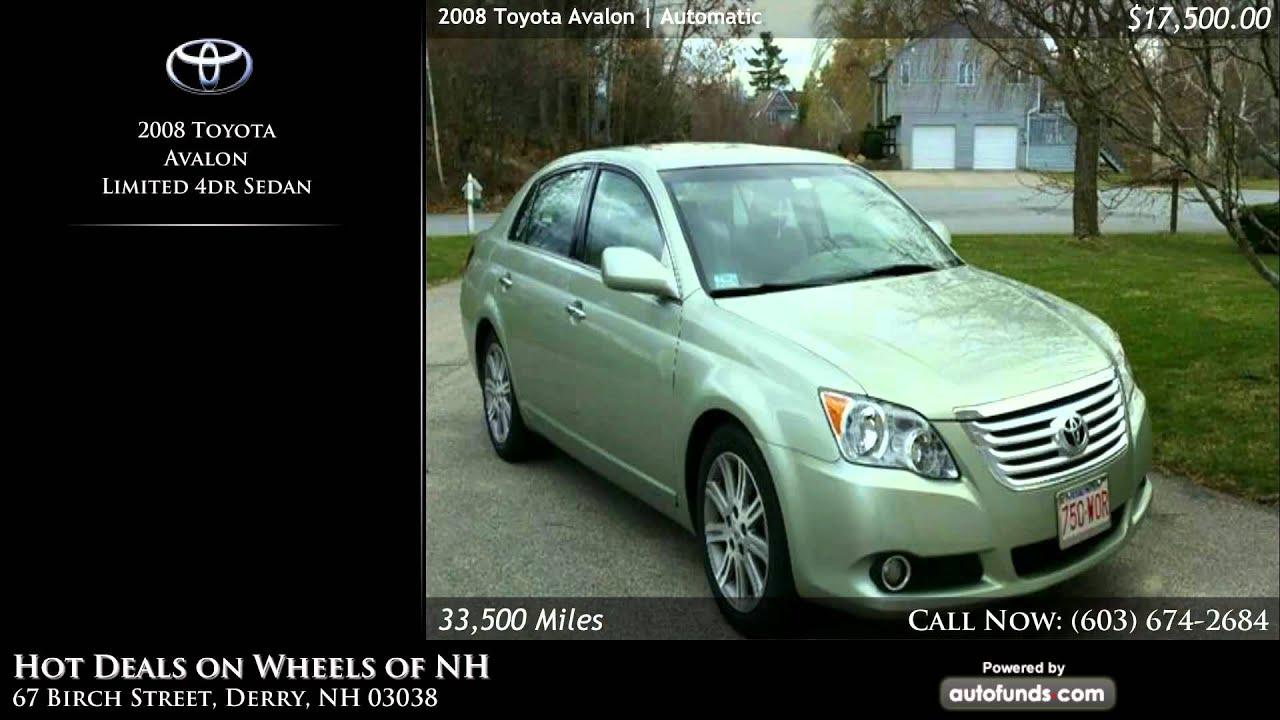 Used 2008 Toyota Avalon | Hot Deals on Wheels of NH, Derry, NH ...