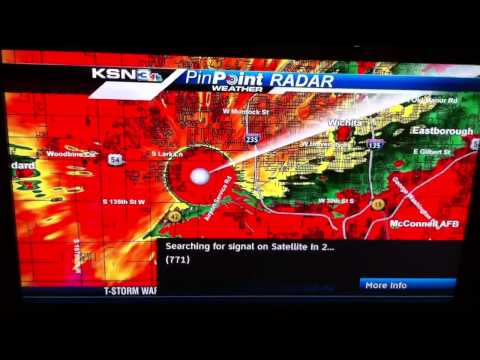 TORNADO!! Wichita, KS KSN News goes into full panic mode