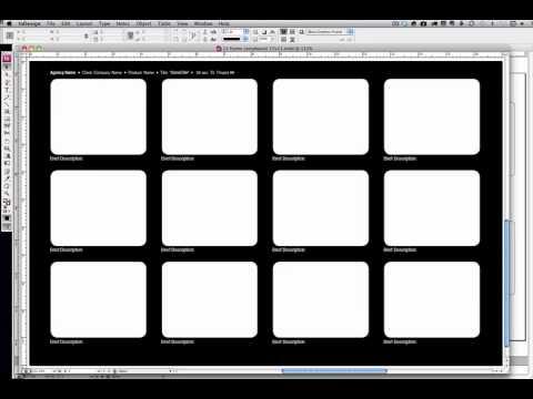 Editable InDesign Storyboard Templates - YouTube