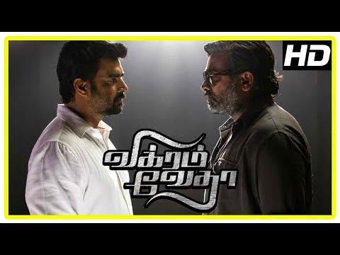 Vikram Vedha Movie Scenes | Shraddha Takes Vijay Sethupathi Out On Bail | Madhavan