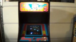 MS PAC MAN ARCADE VIDEO GAME WITH SPEED CHIP- BY MIDWAY