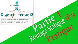 Configuration des Routes  Statiques IPv4 ( Standard,Flottante,Par défaut,Récapitulative) - Pratique