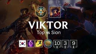 Viktor Top vs Sion - KR Challenger Patch 8.23