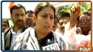 Union Minister Smriti Irani reacts on Azam Khan's remark on Jaya Prada