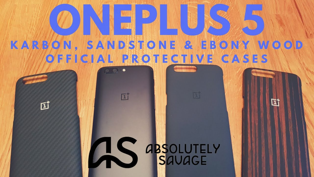 buy popular 93fad ddc34 OnePlus 5 Official Protective Cases (Karbon, Sandstone, Ebony Wood)
