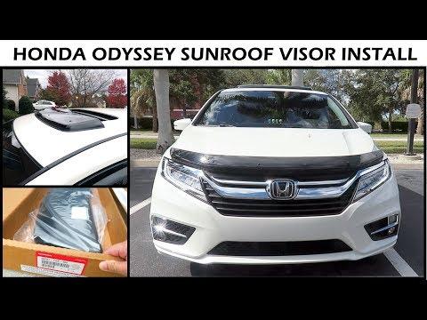 Honda Odyssey 2019 Install Sunroof Visor Deflector