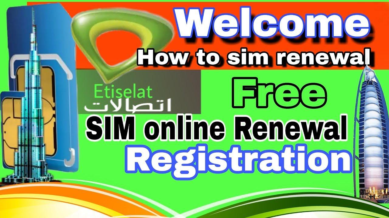 Etisalat sim Renewal online Etisalat sim Registration Renewal  online etisalat sim renewal
