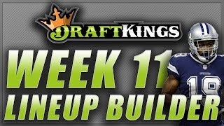 DRAFTKINGS NFL WEEK 11 LINEUP TIPS Q&A: DFS