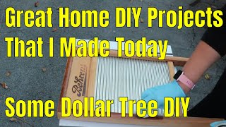 My DIY Home Projects That I Made Today - Some Dollar Tree DIY
