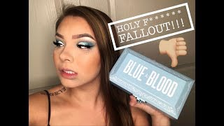 BLUE BLOOD PALETTE BRUTALLY HONEST JEFFREE STAR REVIEW! ! !