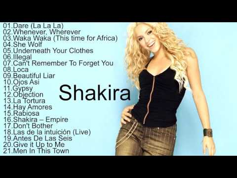 Shakira All Songs 2017  Shakira Greatest Hits Playlist Music In The World