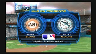 MLB 06: The Show (Florida Marlins Season) Game #51 - SF @ FLA