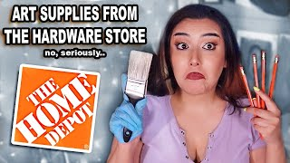 Art Supplies You Should Get At Home Depot (yes seriously, a hardware store art haul)