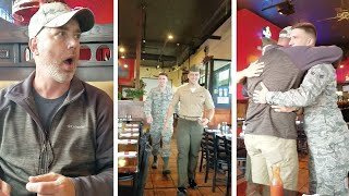 Soldiers Homecoming Surprise For Dad's Birthday