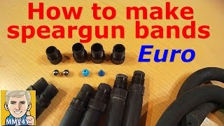How To Make Speargun Replacement Bands Easy!