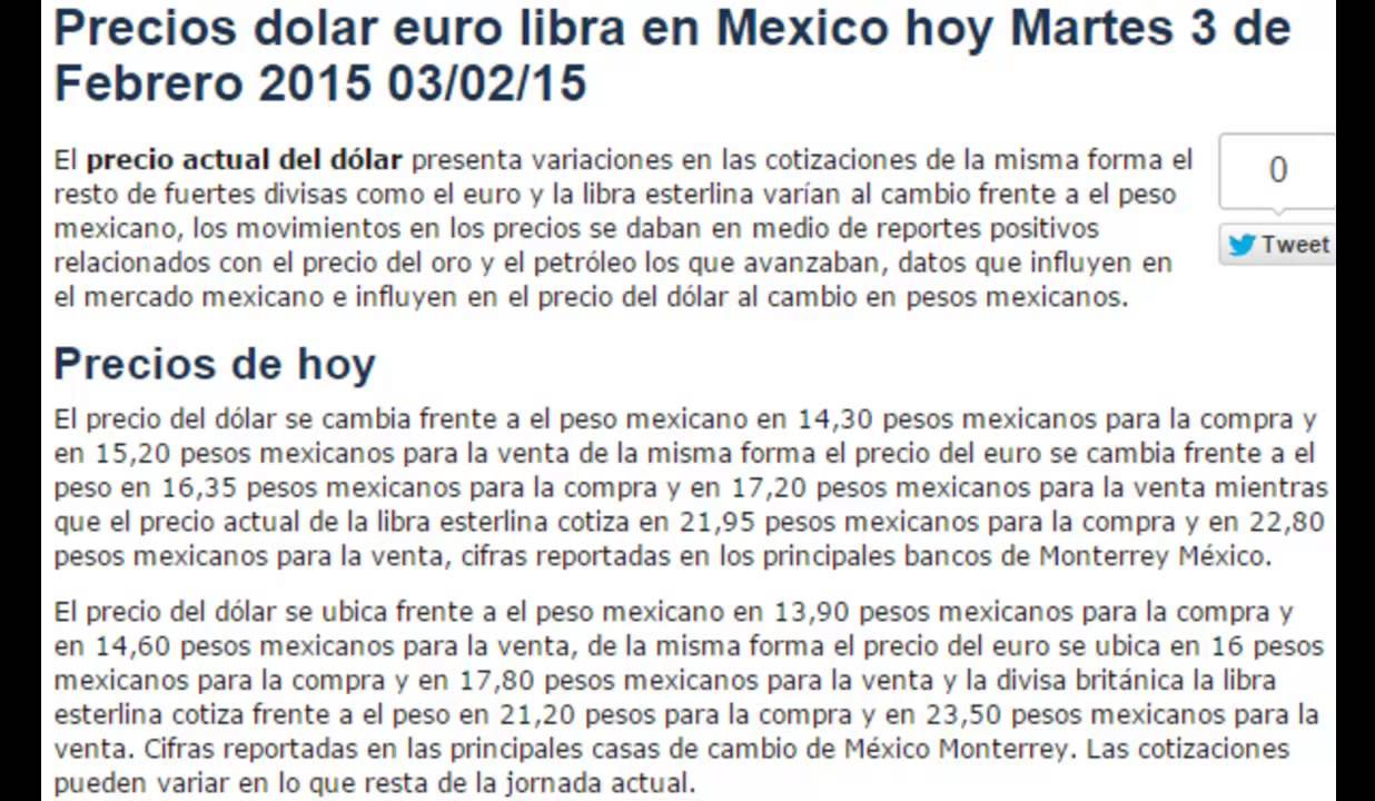 Tipo de cambio euro dolar forex