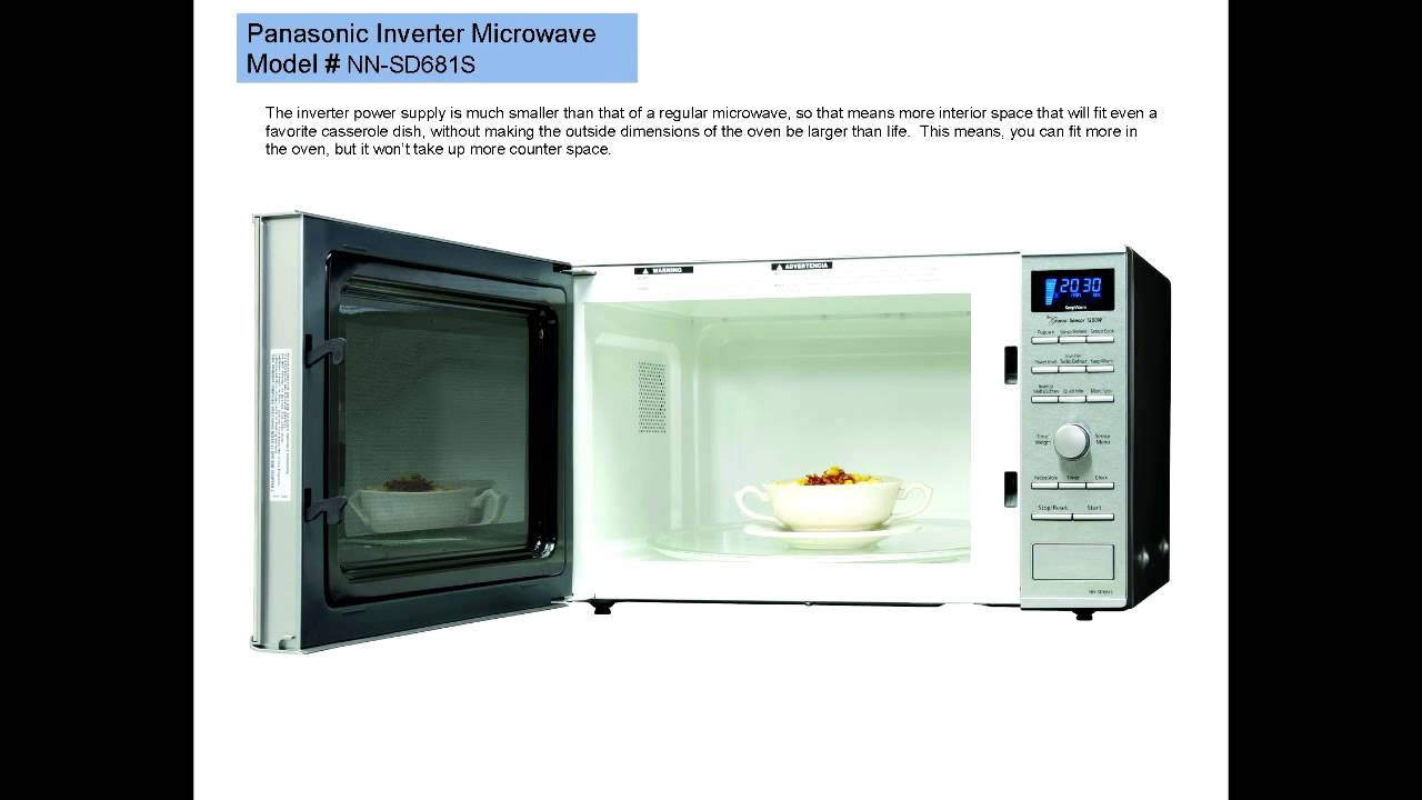 Panasonic Inverter Microwave Oven Model Nn Sd681s A Review You