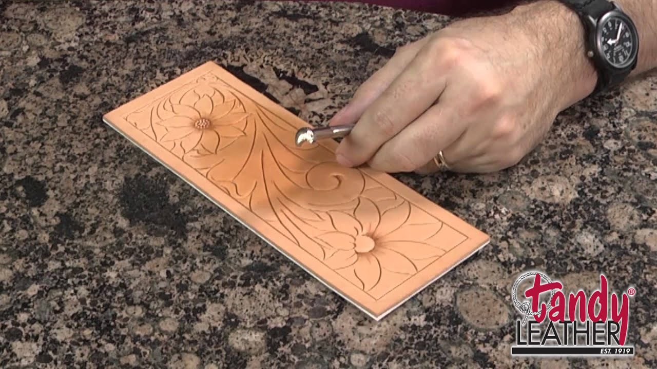 Leathercraft Designs Sunflower Patterns for Leather Carving by Jim Linnell