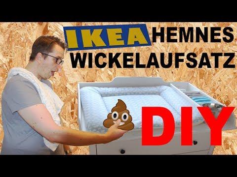 DIY IKEA Hemnes Wickeltisch Wickelaufsatz selber bauen Wickelkommode selber machen IKEA HACK Hemnes