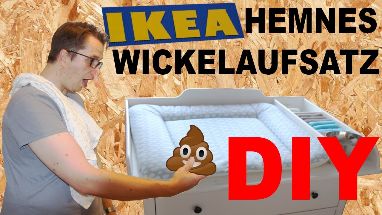 diy ikea hemnes wickeltisch wickelaufsatz selber bauen wickelkommode selber machen ikea hack. Black Bedroom Furniture Sets. Home Design Ideas