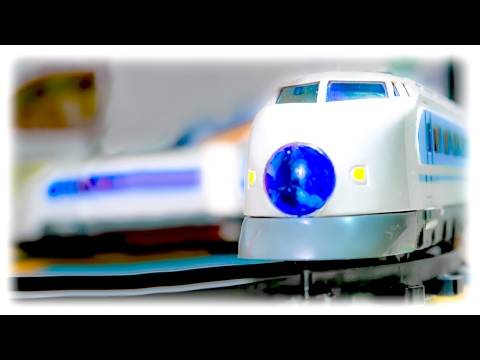 "VIDEO FOR CHILDREN ""Train Auto Run Express"" Toy Model Railway with Passenger Train"