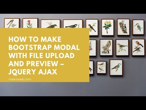 How to Make Bootstrap Modal with File Upload and Preview – jQuery AJAX thumbnail