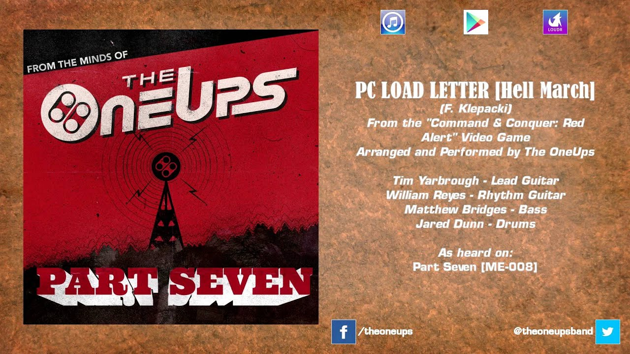 the oneups command conquer red alert pc load letter hell march