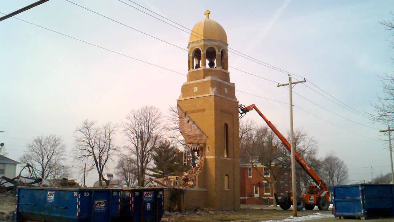 St Benedicts Church Demolition Ladd Il Youtube