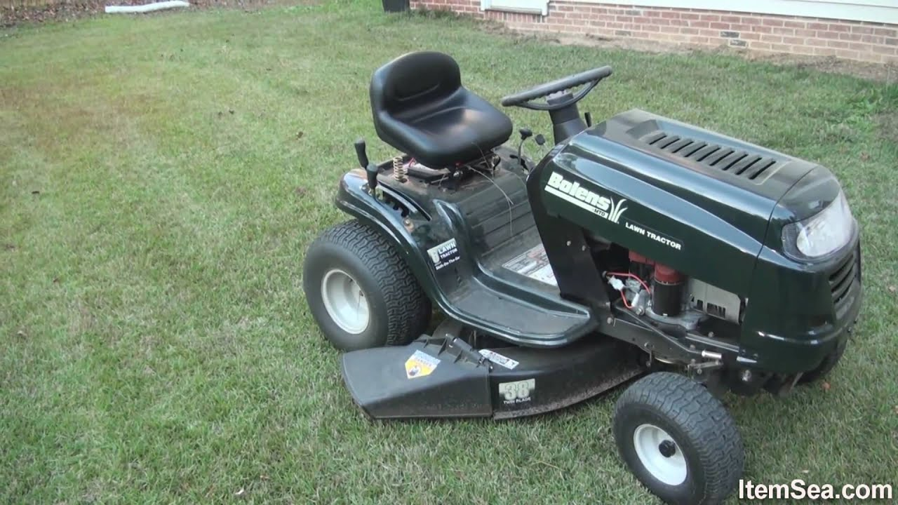 Bolens 15 5 Hp Manual 38 Quot Cut Lawn Tractor Itemsea Youtube