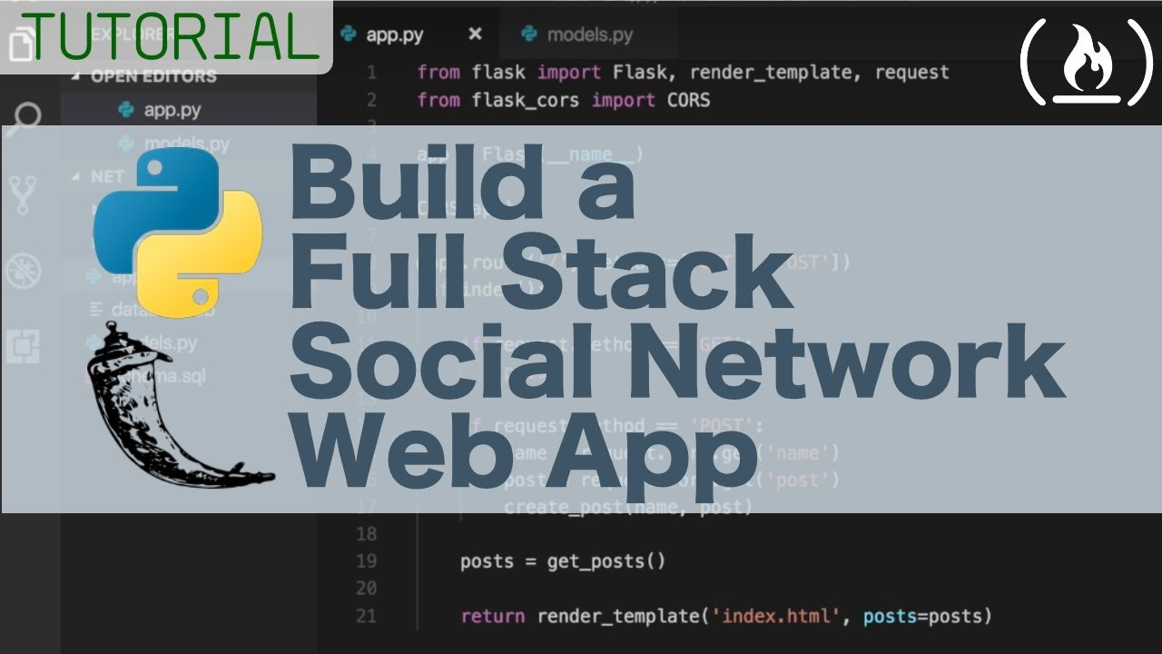 Full stack Python Flask tutorial - Build a social network