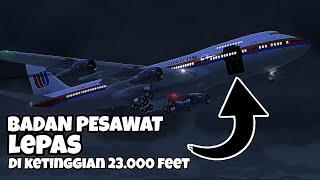 ini merupakan salah satu pendaratan darurat paling bersejarah✈️simulasi united flight 811