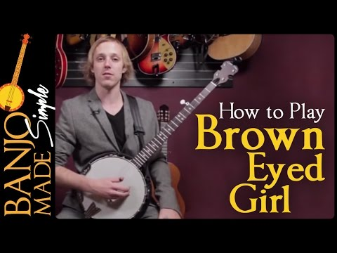 How to Play Brown Eyed Girl - Van Morrison Banjo Lesson