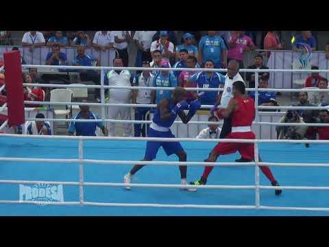 Finales de Boxeo - Juegos CA -60KG Nelson Diaz (NIC) VS Jonathan Miniel (PAN)