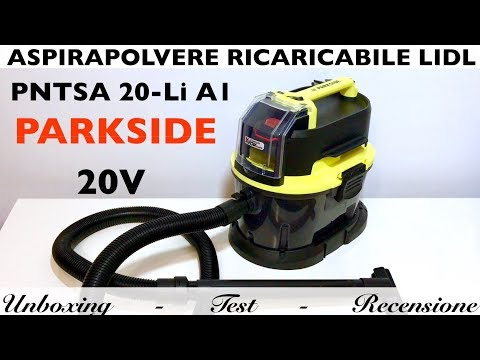 lidl-rechargeable-vacuum-cleaner.-pntsa-20-li-a1,-parkside-with-team-x20v-battery.-20v-10-l.-liquids