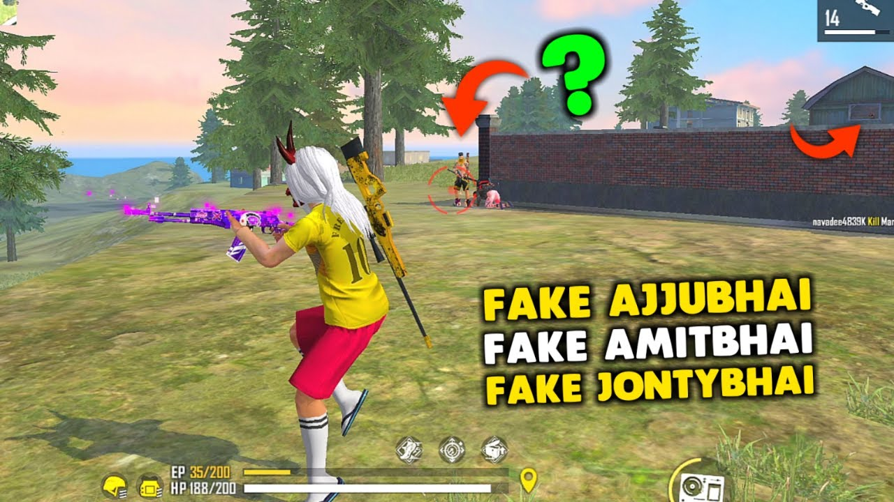 I Meet Fake Ajjubhai, Amitbhai and Jontybhai Best Gameplay - Moment   Garena Free Fire