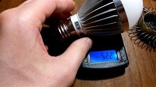 Обзор, тест LED светодиодной лампочки из Китая