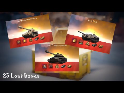 Open 25 WoT BOXES... MADDNES (& New Year's draw of gift BOXES)!!!