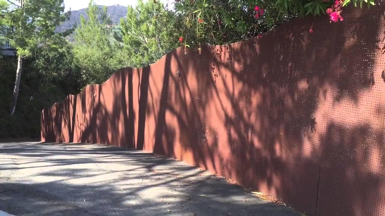 Plain Sheet Metal Fence Fencing Mulholland Security On Design Inspiration