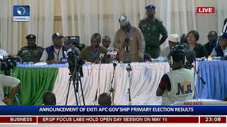 Al-Makura Announces Ekiti APC Gov'ship Primary Election Results Pt.1