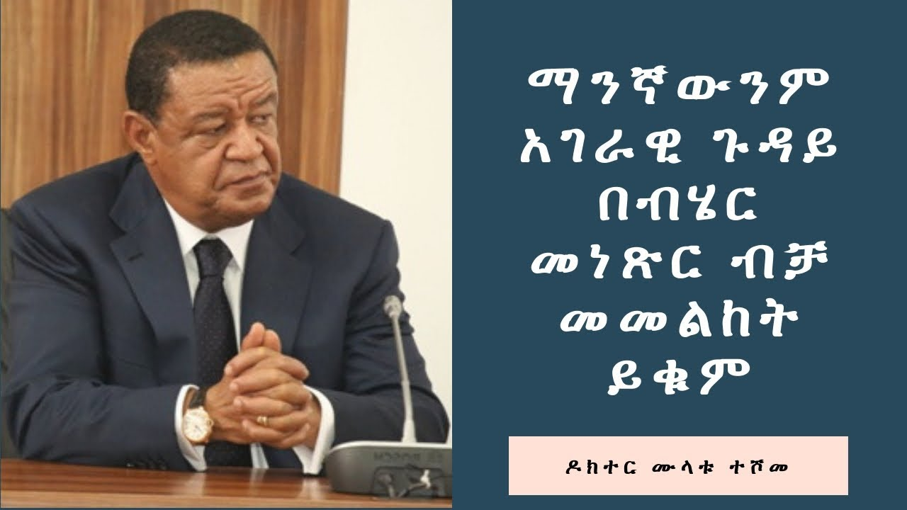Stop looking at any national affairs with negative interest the former president  Ethiopia