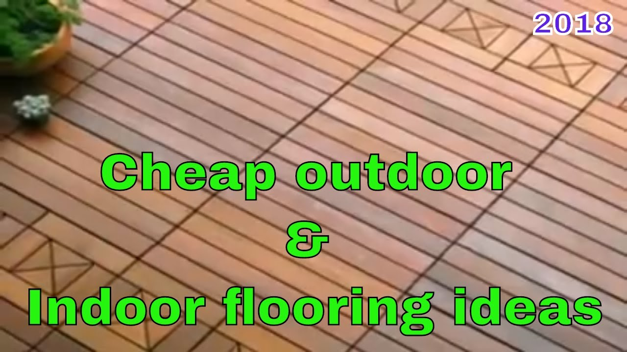 Cheap outdoor flooring ideas