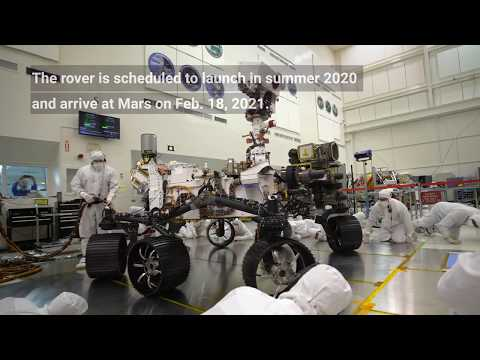 NASA's Mars 2020 Rover Takes First Test Drive