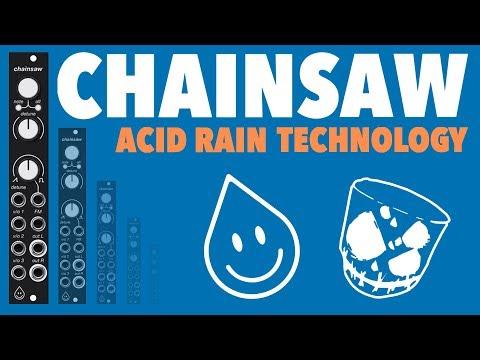 Acid Rain Technology Chainsaw // A Stereo 21 Oscillator Swarm In 4HP (Eurorack Demo)