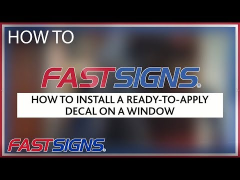 How To Install RTA On A Window | FASTSIGNS®