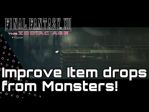 Final Fantasy XII Zodiac Age! Improve Monster Loot! Grimoires & Monographs