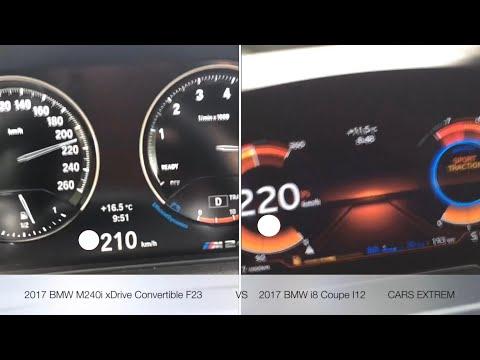 0-260 KM/H RACE: 2017 BMW i8 Coupe I12 VS 2017 BMW M240i xDrive Convertible F23