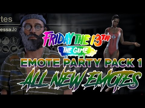 Emote Party Pack 1 | All New Emotes | Friday the 13th: The Game