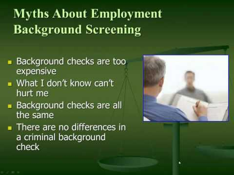 "Employment Background Screening ""Myths vs. Facts"""