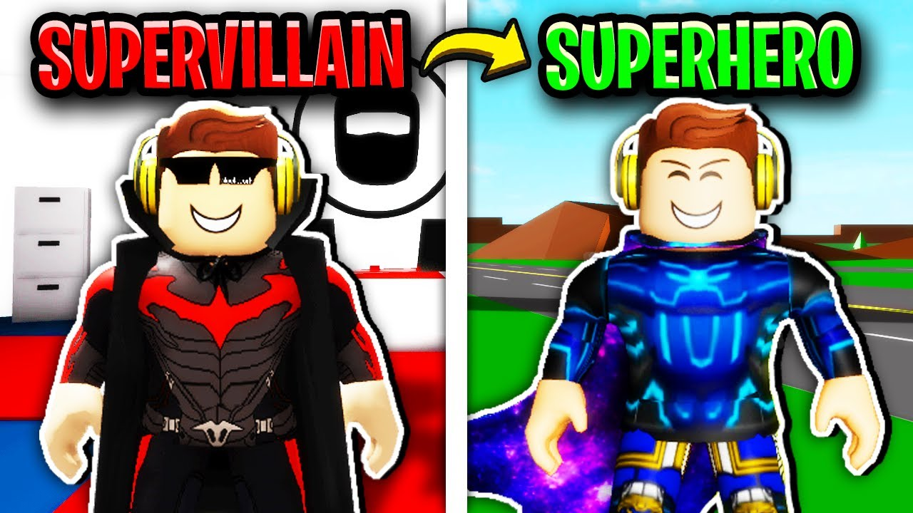 SUPERVILLAIN To SUPERHERO in Roblox Brookhaven.. 🦹♂️🦸♂️